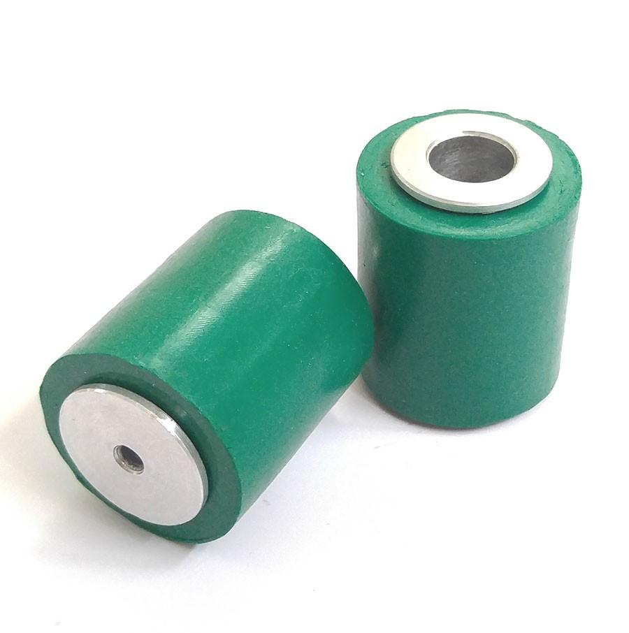 iWheel2733 ล้ออะลูมิเนียมพร้อมยางซิลิโคนสีเขียวขนาดเส้นผ่านศูนย์กลาง 27 มม.