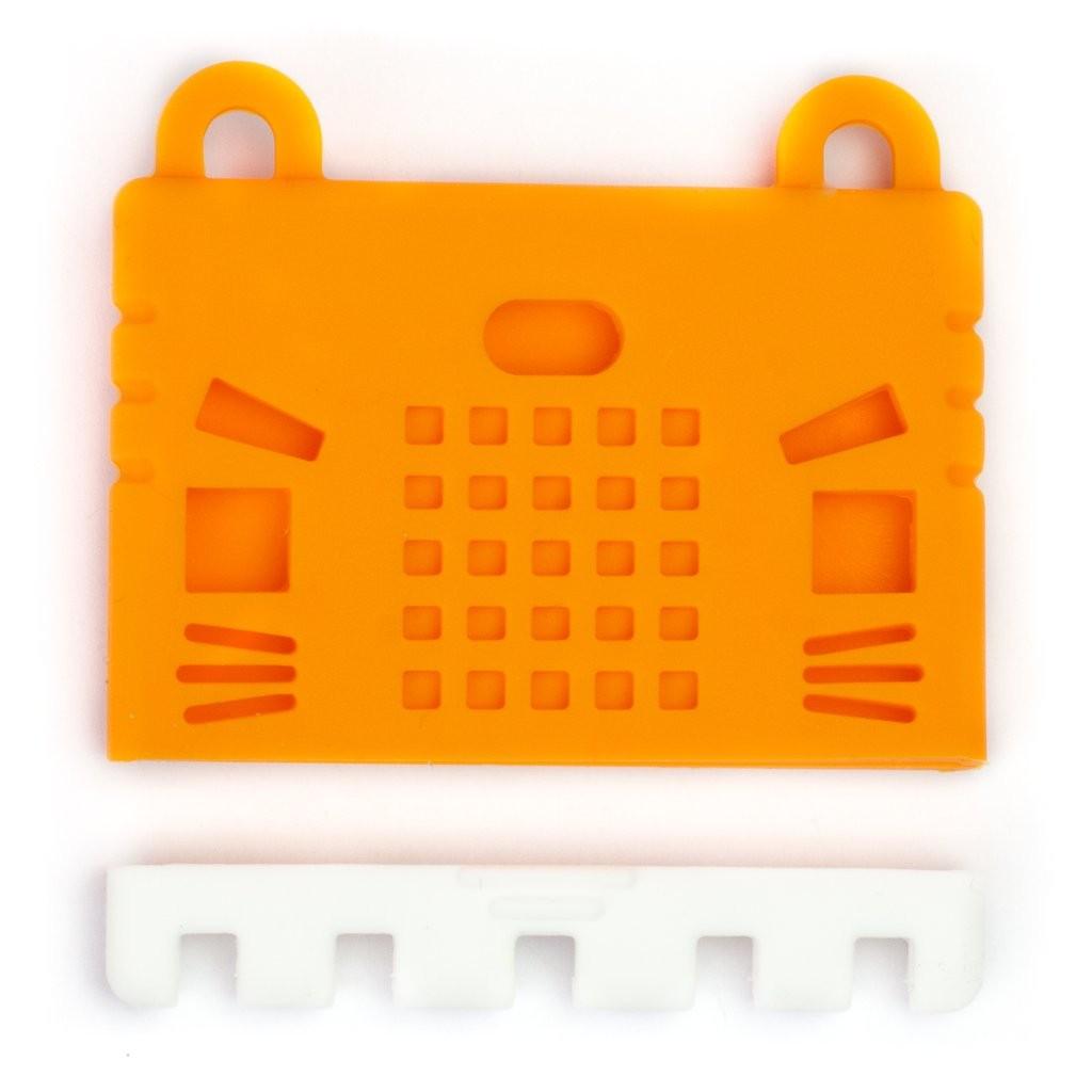 เคสซิลิโคนสำหรับแผงวงจร micro:bit - สีส้ม