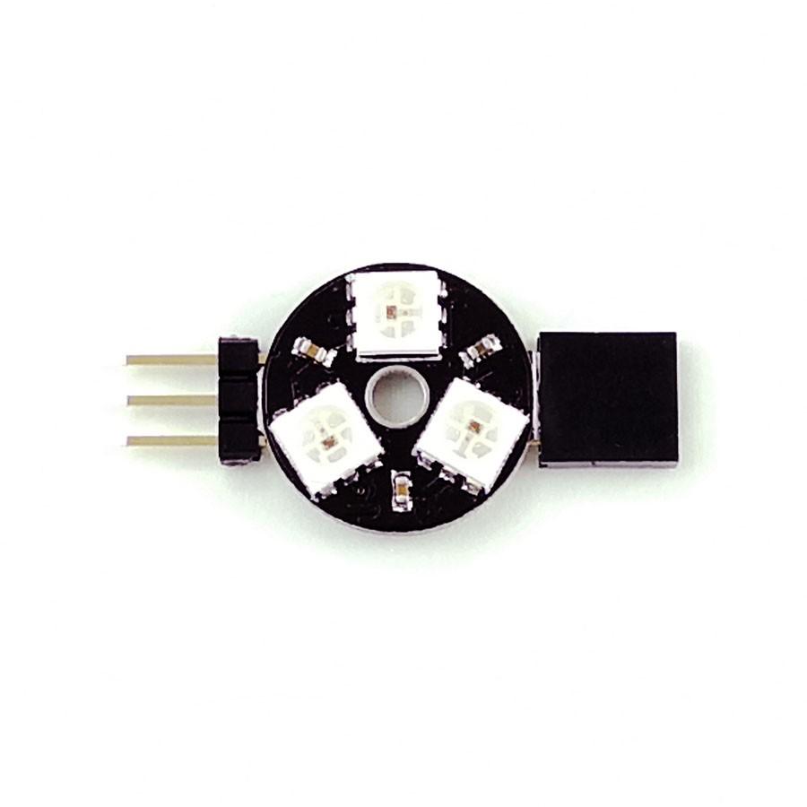 ZX-RGB3C แผงวงจร LED 3 สี RGB แบบโปรแกรมได้ 3 ดวงแผ่นกลม