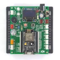 AX-WiFi บอร์ดอุปกรณ์อินพุตเอาต์พุตสำหรับทดลองและใช้งานพร้อม NodeMCU-12E