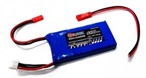 แบตเตอรี่ Li-Po HeliCoxNana 7.4V 1100 mAh 30C พร้อมสายต่อ
